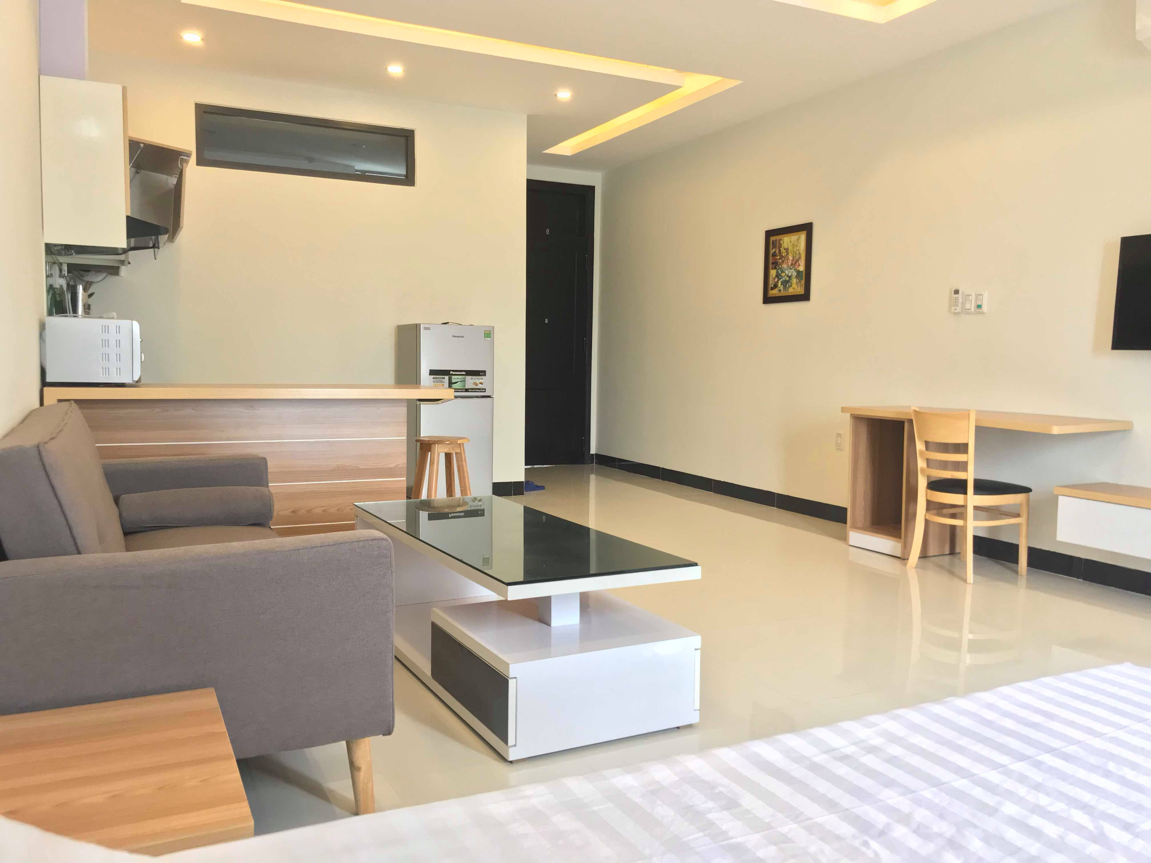 Cheap studio apartment rental in the city center for your business trip to Danang