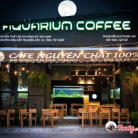 Aquarium coffee shop in Da Nang