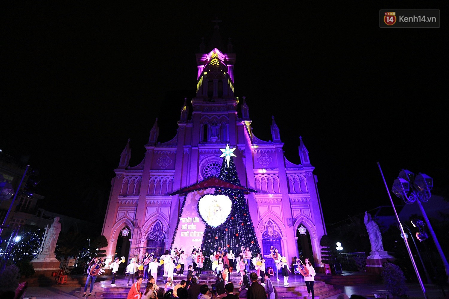Christmas in vietnam danang cathedral church