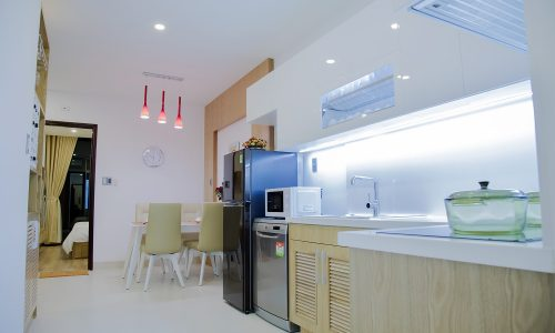 Kitchen luxury apartment in Danang