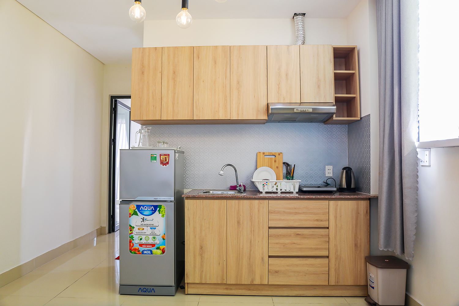 serviced apartment in danang new kitchen