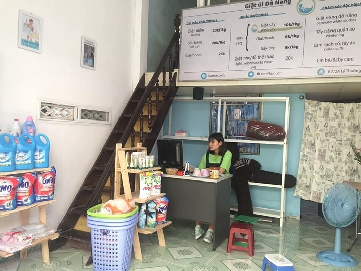 The space of reliable laundry in Danang