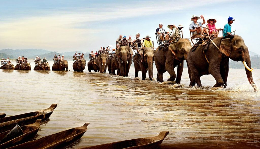 visit vietnam in march ride elephant