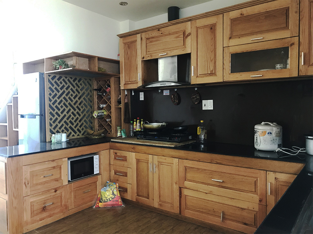 luxury house for rent in Danang near river kitchen