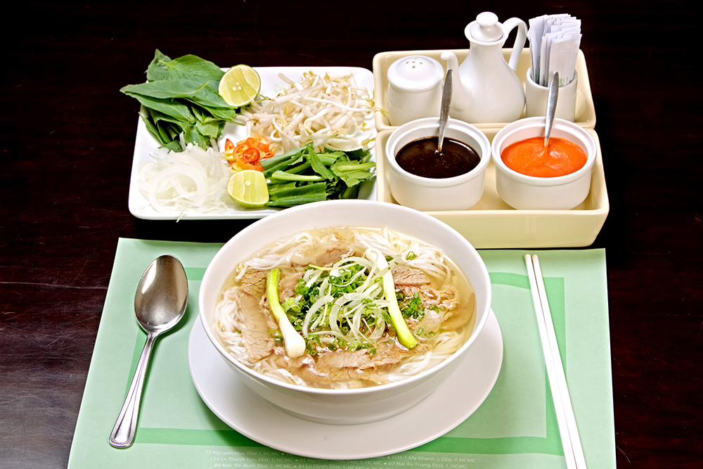 Vietnam food Pho North veggies