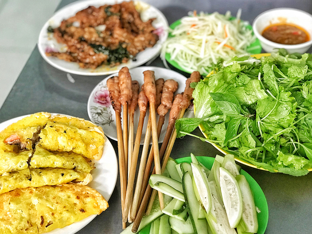 Vietnam food good banh xeo
