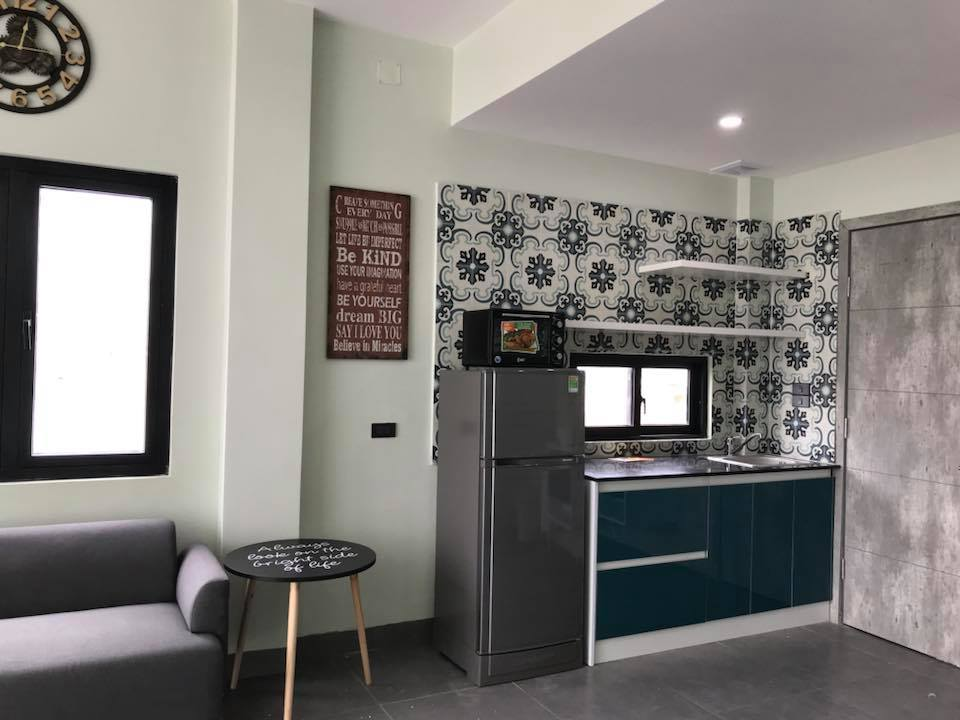 apartment near beach in Da Nang Kelly kitchen