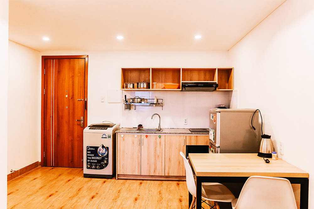 serviced apartment in Danang Dominika kitchen