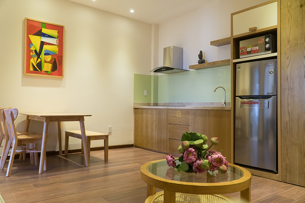 serviced apartment in Danang Boutique kitchen