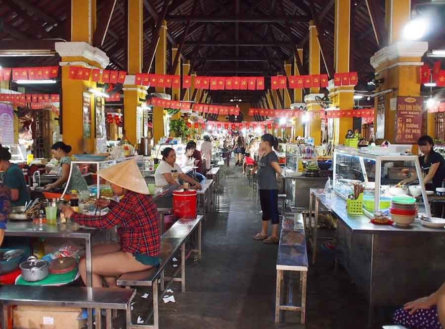 inside hoi an food market, there is a diversification of traditional dishes