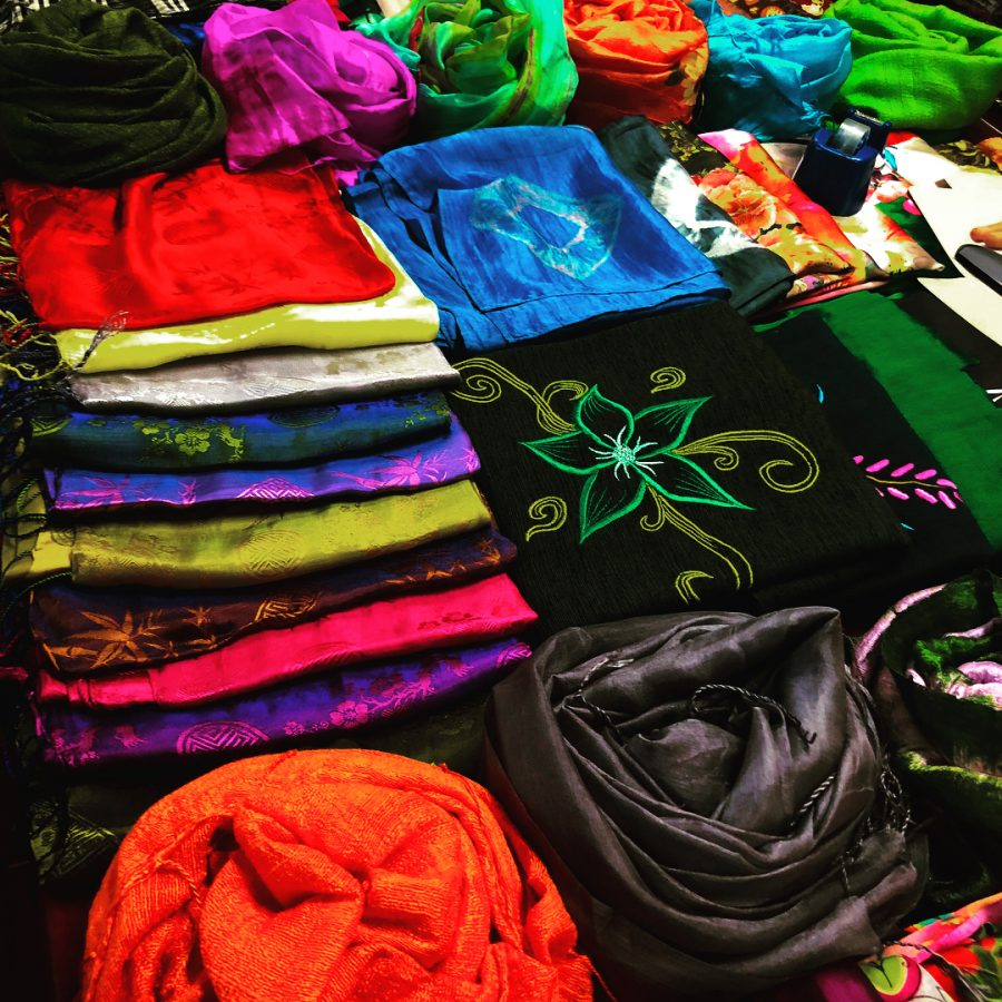 silk products from Hoi An