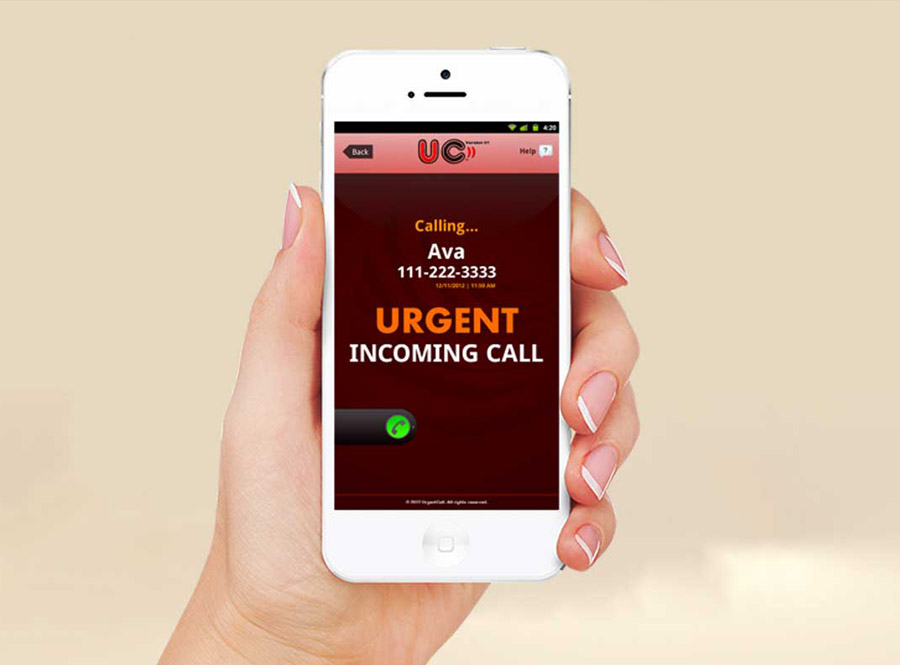using urgent call when you are in serious trouble in a storm in vietnam