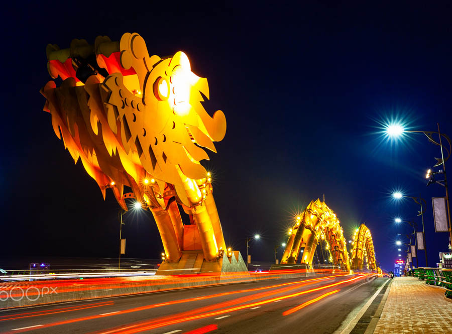 the dragon bridges is one the most worthy places to visit in danang at night