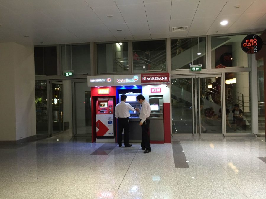you can withdraw money at the airport