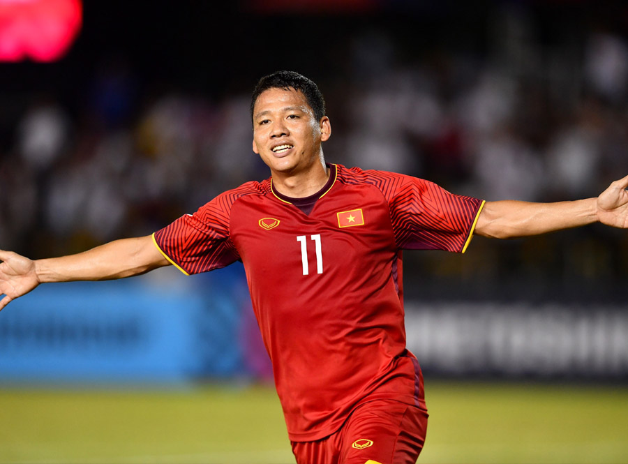 nguyen anh duc is the veteran in the national team of vietnam football
