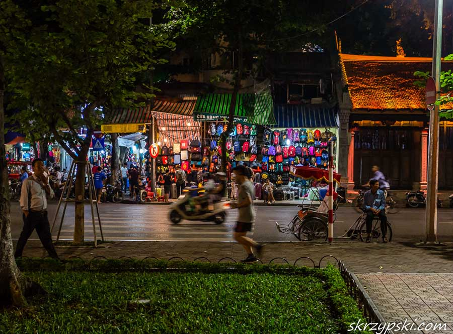 Hanoi night market from the outside