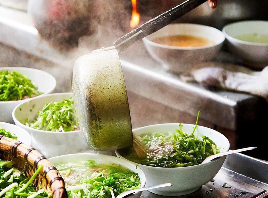 Pho is the most famous dish in Hanoi food