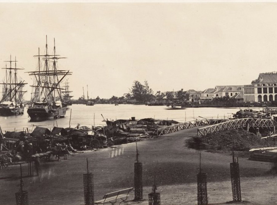 port on Saigon River in 1866