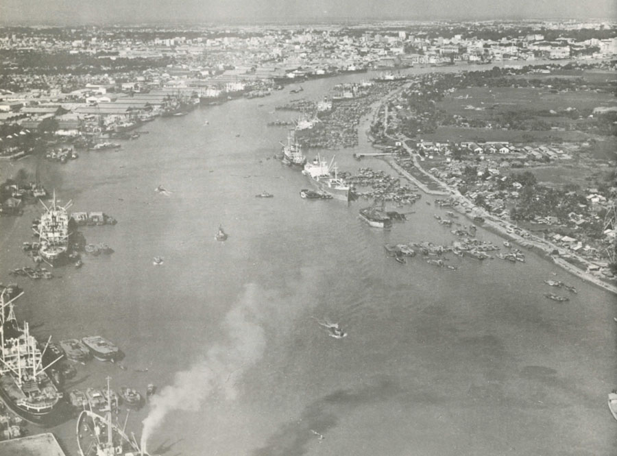 saigon river in the france colonialism period